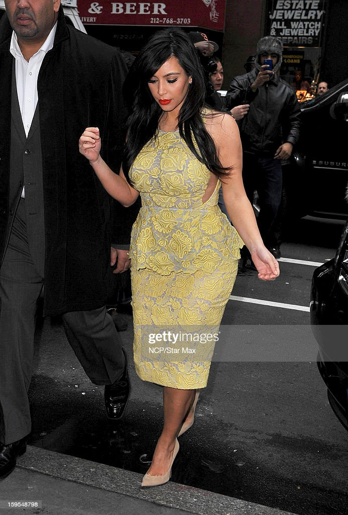 Kim Kardashian as seen on January 15, 2013 in New York City.