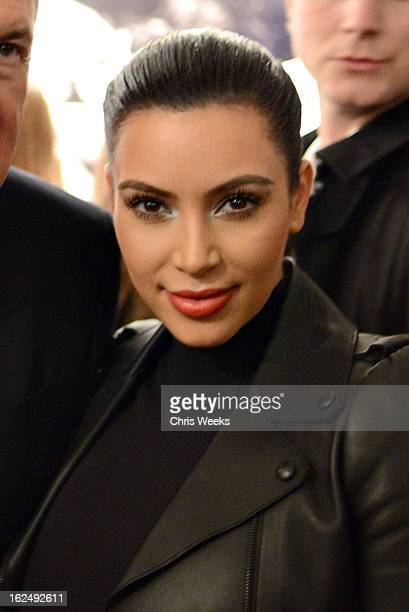 Kim Kardashian attends a Private Reception For Mario Testino at PRISMon February 23 2013 in West Hollywood California