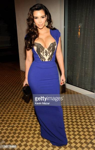 Kim Kardashian attends Clive Davis And The Recording Academy's 2012 PreGRAMMY Gala And Salute To Industry Icons Honoring Richard Branson at The...
