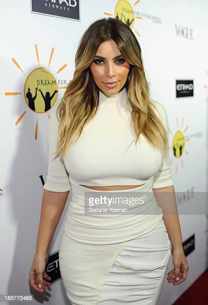 Kim Kardashian attends Dream for Future Africa Foundation Inaugural Gala honoring Franca Sozzani of VOGUE Italia at Spago on October 24 2013 in...
