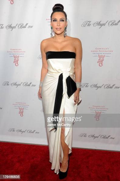 Kim Kardashian attends Gabrielle's Angel Foundation for Cancer Research Hosts Angel Ball 2011 at Cipriani Wall Street on October 17 2011 in New York...