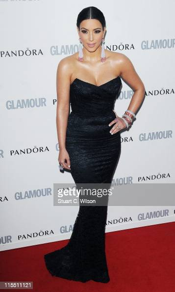 Kim Kardashian attends Glamour Women Of The Year Awards at Berkeley Square Gardens on June 7 2011 in London England