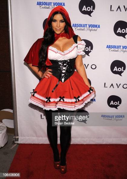 Kim Kardashian attends Heidi Klum's 2010 Halloween Party at Lavo on October 31 2010 in New York City