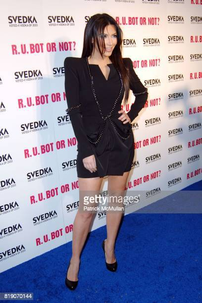 Kim Kardashian attends KIM KARDASHIAN vs KOURTNEY KARDASHIAN at SVEDKA VODKA'S 'RU BOT OR NOT' BATTLE OF THE BOTS at Wonderland on May 22 2010 in...