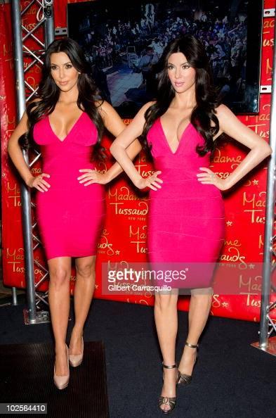 Kim Kardashian attends Kim Kardashian's wax figure unveiling at Madame Tussauds on July 1 2010 in New York City