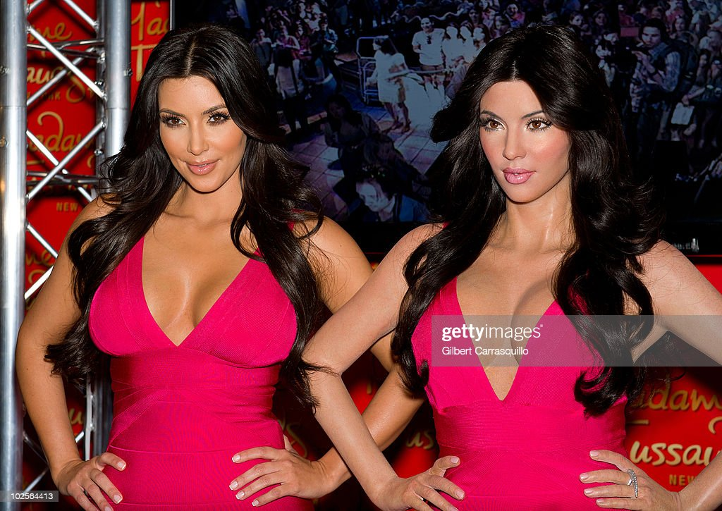 Kim Kardashian attends Kim Kardashian's wax figure unveiling at Madame Tussauds on July 1 2010 in New York City