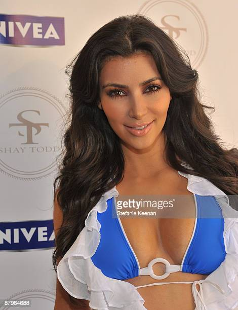 Kim Kardashian attends Nivea and Shay Todd's 'Bikini Bash' at Nivea Beach House on May 24 2009 in Malibu California