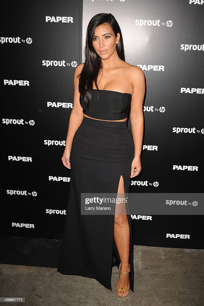 Kim Kardashian attends Paper Magazine Sprout By HP DKNY Break The Internet Issue Release at 1111 Lincoln Road on December 4 2014 in Miami Florida