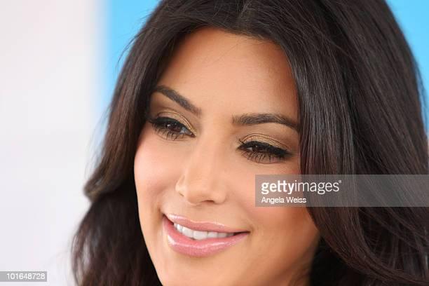 Kim Kardashian attends Shape Magazine's 2nd annual 'Bikini Body Tour' on June 5 2010 in Santa Monica California