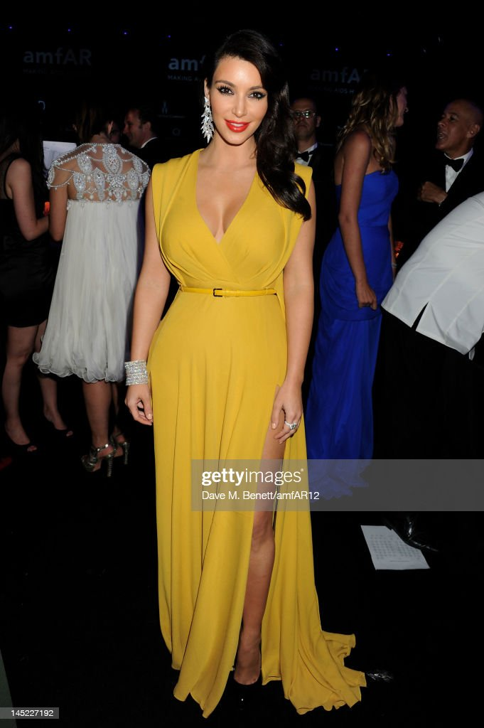 <a gi-track='captionPersonalityLinkClicked' href=/galleries/search?phrase=Kim+Kardashian&family=editorial&specificpeople=753387 ng-click='$event.stopPropagation()'>Kim Kardashian</a> attends the 2012 amfAR's Cinema Against AIDS during the 65th Annual Cannes Film Festival at Hotel Du Cap on May 24, 2012 in Cap D'Antibes, France.