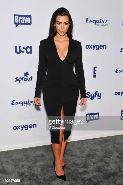 Kim Kardashian attends the 2014 NBCUniversal Cable Entertainment Upfronts at The Jacob K Javits Convention Center on May 15 2014 in New York City