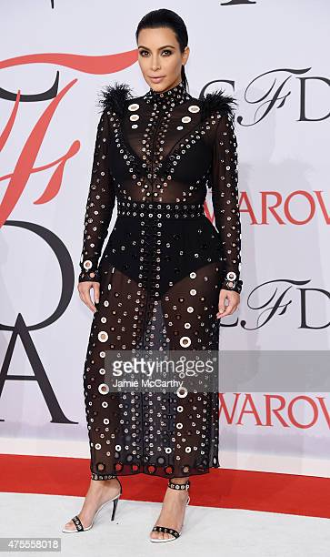 Kim Kardashian attends the 2015 CFDA Fashion Awards at Alice Tully Hall at Lincoln Center on June 1 2015 in New York City