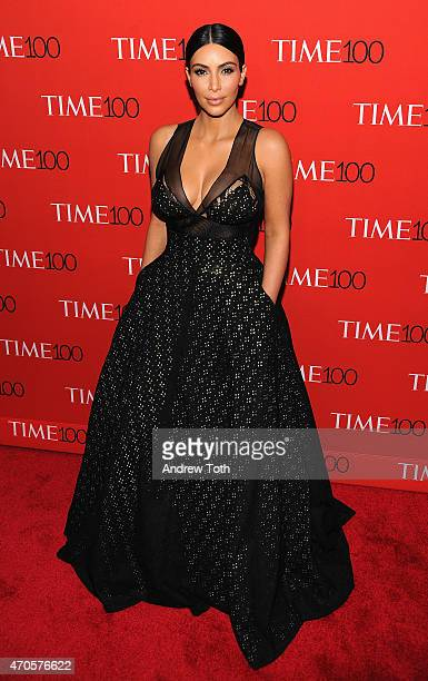Kim Kardashian attends the 2015 Time 100 Gala at Frederick P Rose Hall Jazz at Lincoln Center on April 21 2015 in New York City