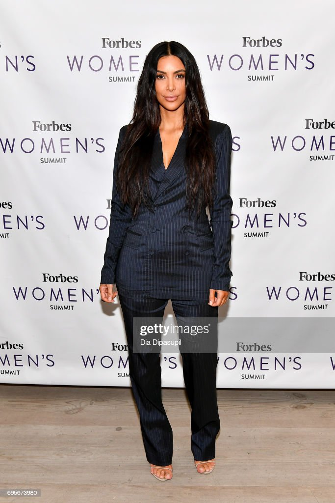 Kim Kardashian attends the 2017 Forbes Women's Summit at Spring Studios on June 13, 2017 in New York City.