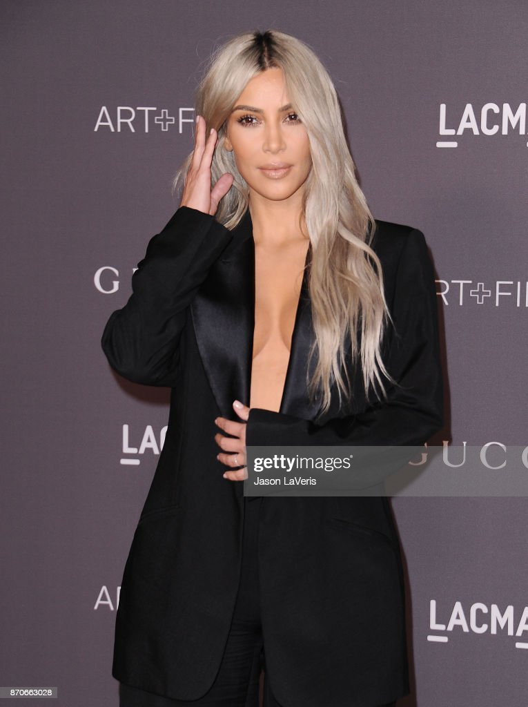 Kim Kardashian attends the 2017 LACMA Art + Film gala at LACMA on November 4, 2017 in Los Angeles, California.