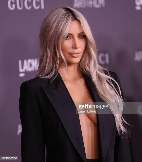 Kim Kardashian attends the 2017 LACMA Art Film gala at LACMA on November 4 2017 in Los Angeles California
