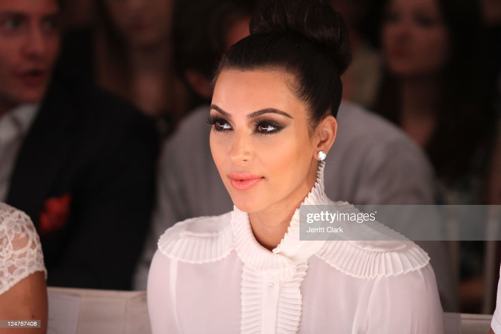 <a gi-track='captionPersonalityLinkClicked' href=/galleries/search?phrase=Kim+Kardashian&family=editorial&specificpeople=753387 ng-click='$event.stopPropagation()'>Kim Kardashian</a> attends the Abbey Dawn by Avril Lavigne Spring 2012 fashion show during Style360 at the Metropolitan Pavilion on September 12, 2011 in New York City.