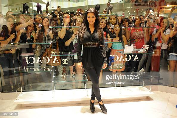 Kim Kardashian attends the A'GACI store opening at the Sawgrass Mills Mall on November 20 2009 in Sunrise Florida