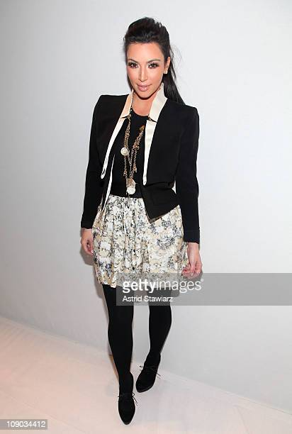 Kim Kardashian attends the Charlotte Ronson Fall 2011 fashion show during MercedesBenz Fashion Week at The Stage at Lincoln Center on February 12...