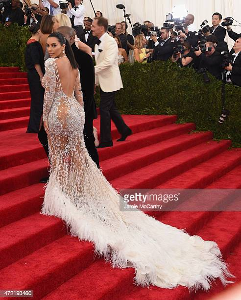 Kim Kardashian attends the 'China Through The Looking Glass' Costume Institute Benefit Gala at the Metropolitan Museum of Art on May 4 2015 in New...