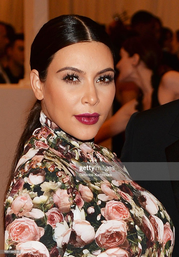 Kim Kardashian attends the Costume Institute Gala for the 'PUNK: Chaos to Couture' exhibition at the Metropolitan Museum of Art on May 6, 2013 in New York City.