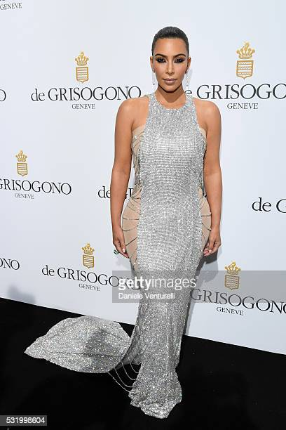 Kim Kardashian attends the De Grisogono Party during the annual 69th Cannes Film Festival at Hotel du CapEdenRoc on May 17 2016 in Cap d'Antibes...