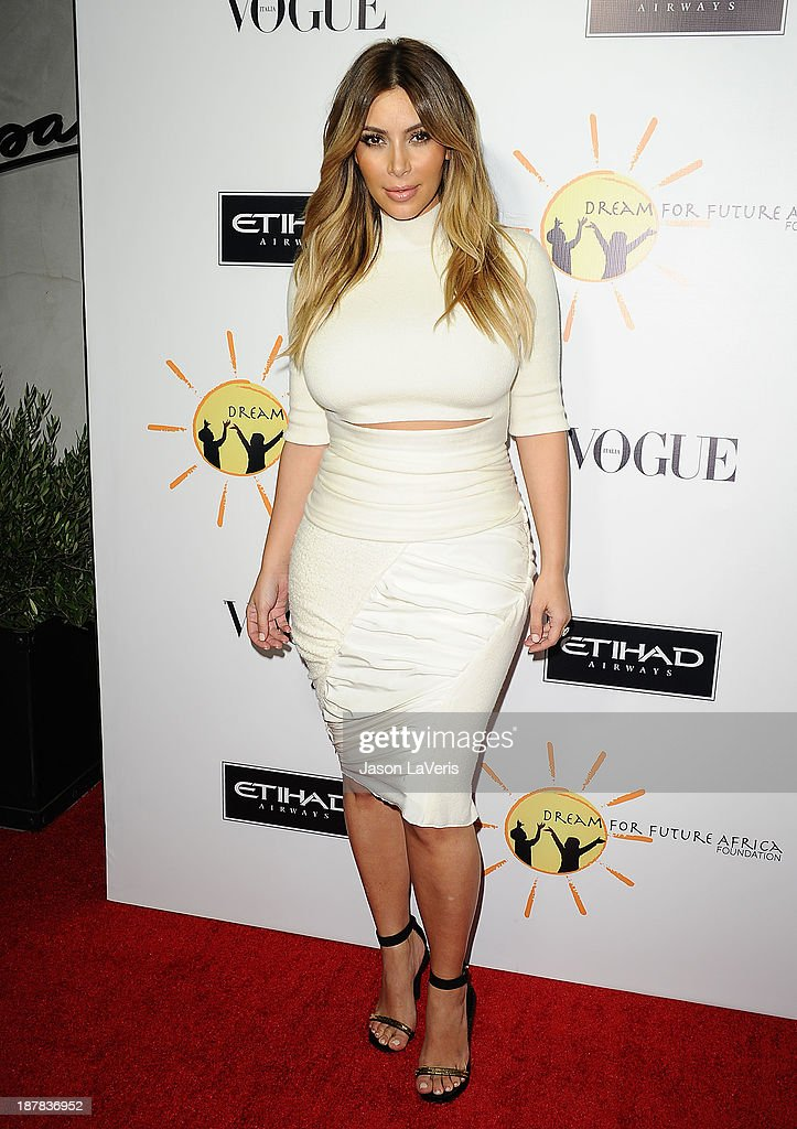 <a gi-track='captionPersonalityLinkClicked' href=/galleries/search?phrase=Kim+Kardashian&family=editorial&specificpeople=753387 ng-click='$event.stopPropagation()'>Kim Kardashian</a> attends the Dream For Future Africa Foundation gala at Spago on October 24, 2013 in Beverly Hills, California.