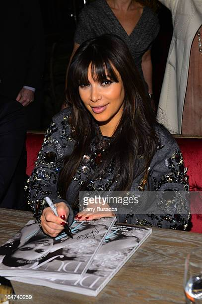 Kim Kardashian attends the DuJour Magazine Spring 2013 Issue Celebration at The Darby on March 27 2013 in New York City