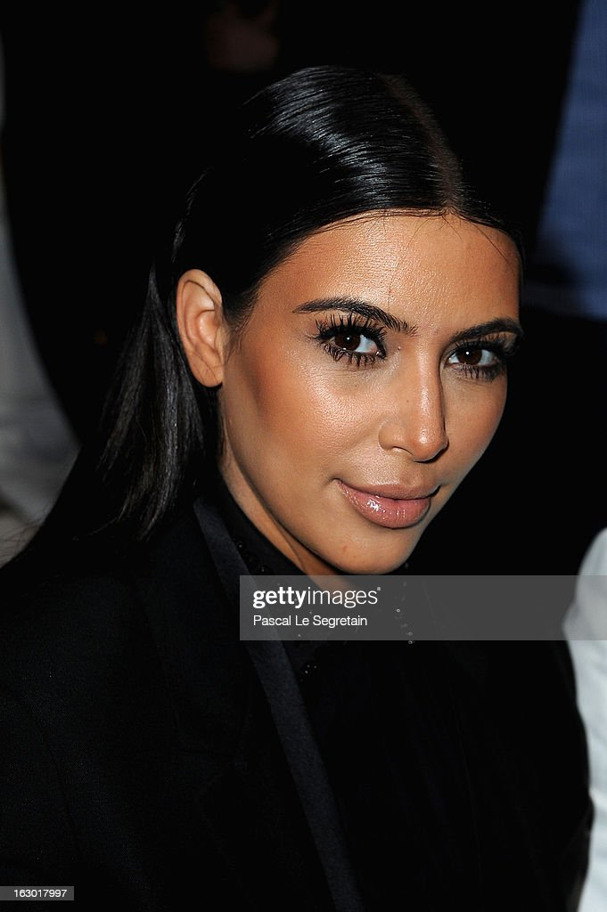 Kim Kardashian attends the Givenchy Fall/Winter 2013 Ready-to-Wear show as part of Paris Fashion Week on March 3, 2013 in Paris, France.