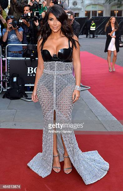 Kim Kardashian attends the GQ Men of the Year awards at The Royal Opera House on September 2 2014 in London England