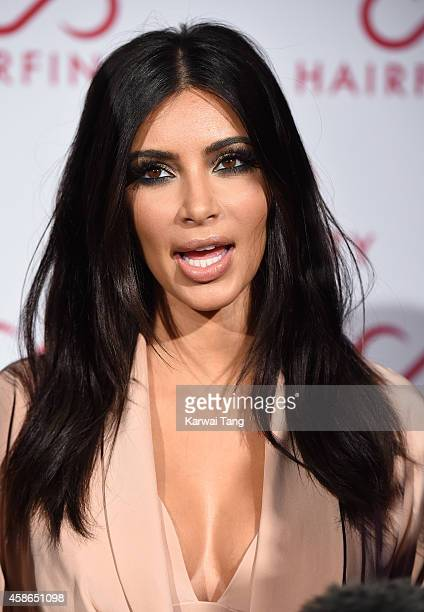 Kim Kardashian attends the Hairfinity UK Launch Party on November 8 2014 in London England