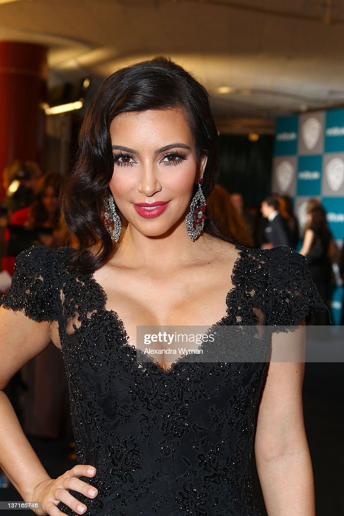 Kim Kardashian attends the InStyle and Warner Bros 69th Annual Golden Globe Awards PostParty at The Beverly Hilton hotel on January 15 2012 in...
