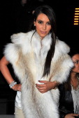 Kim Kardashian attends the Kanye West ReadyToWear Fall/Winter 2012 show as part of Paris Fashion Week at Halle Freyssinet on March 6 2012 in Paris...