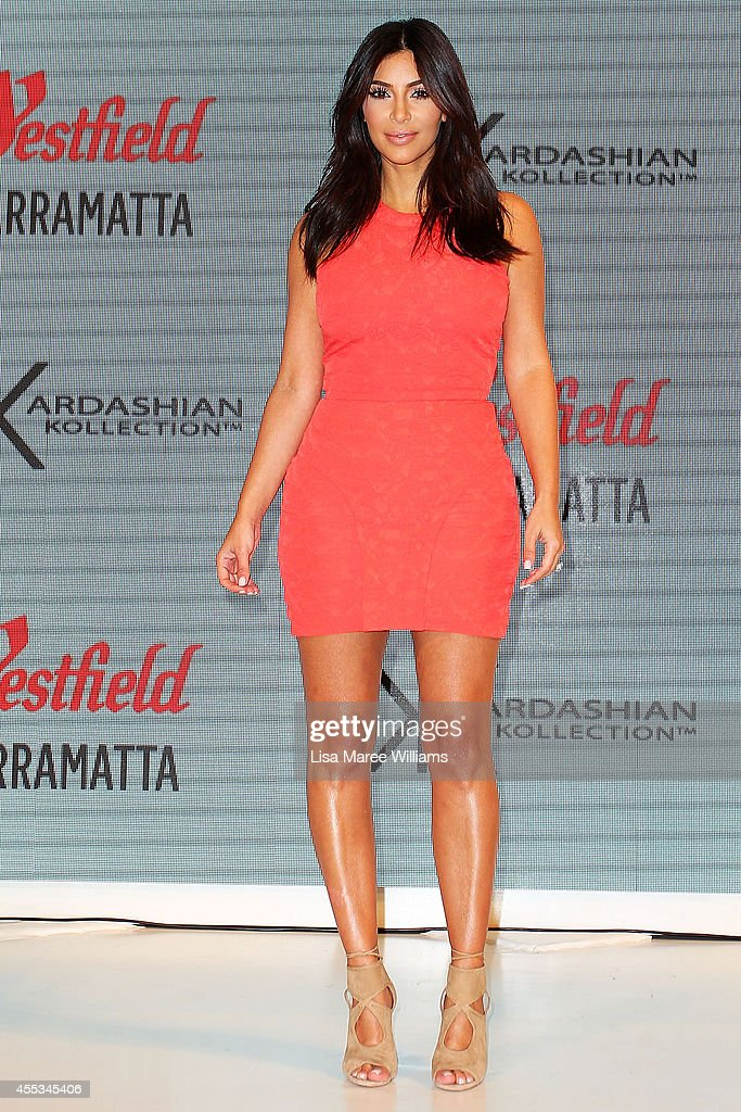Kim Kardashian attends the Kardashian Kollection Spring Launch at Westfield Parramatta on September 13 2014 in Sydney Australia