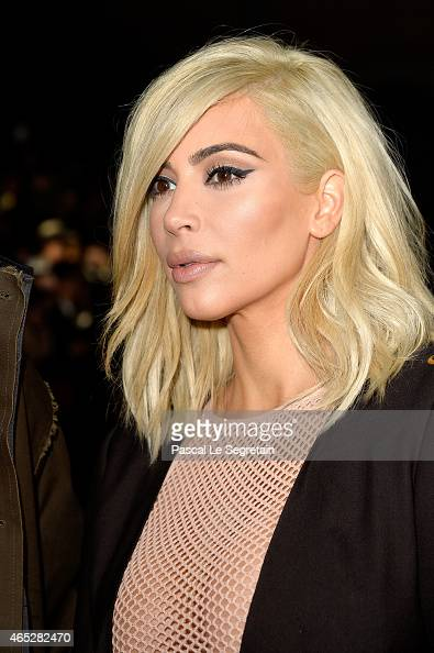Kim Kardashian attends the Lanvin show as part of the Paris Fashion Week Womenswear Fall/Winter 2015/2016 on March 5 2015 in Paris France