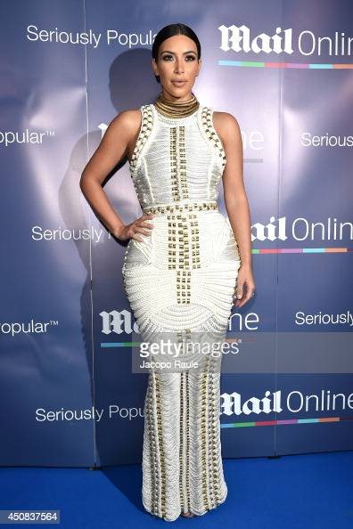 Kim Kardashian attends The MailOnline Cannes Party on June 18 2014 in Cannes France