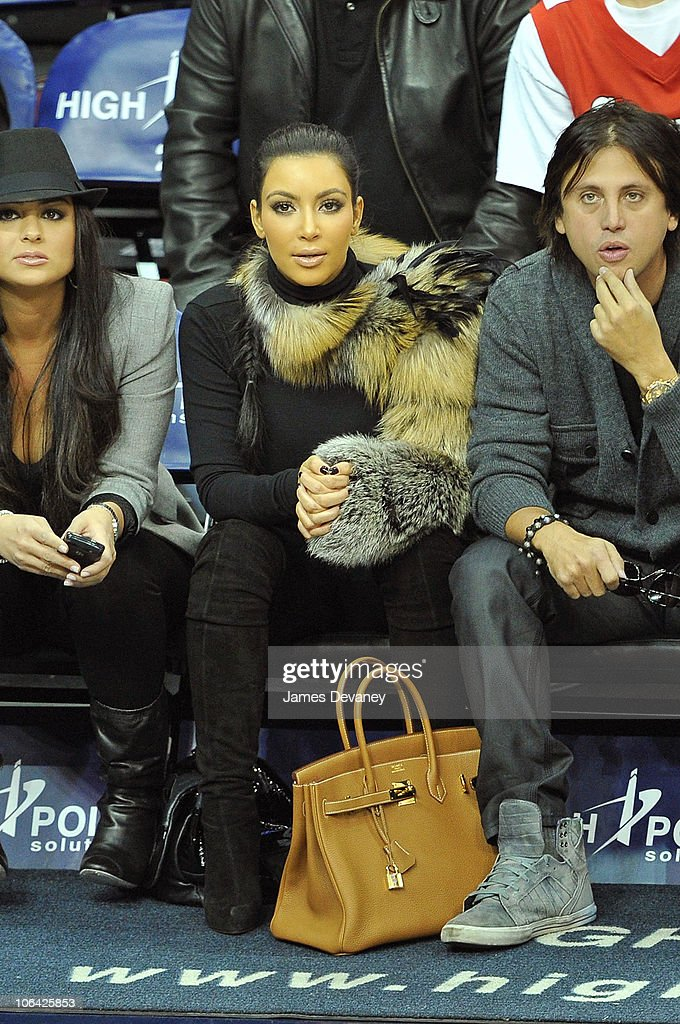 <a gi-track='captionPersonalityLinkClicked' href=/galleries/search?phrase=Kim+Kardashian&family=editorial&specificpeople=753387 ng-click='$event.stopPropagation()'>Kim Kardashian</a> attends the Miami Heat vs NJ Nets Game at Prudential Center on October 31, 2010 in Newark City.