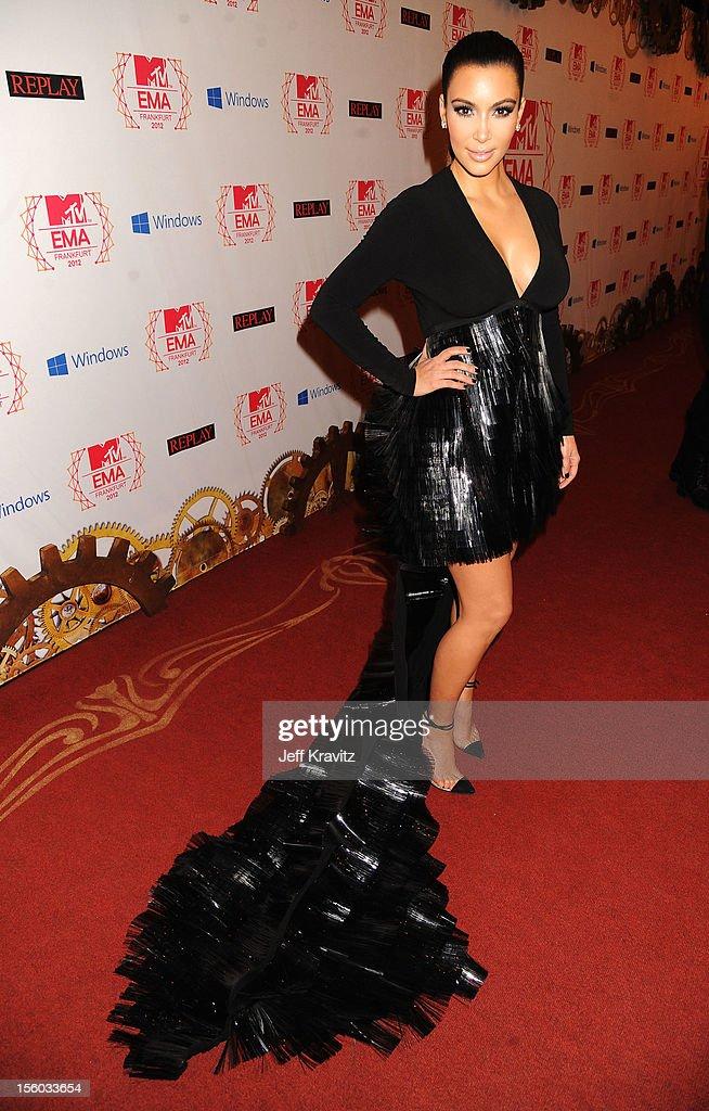 Kim Kardashian attends the MTV EMA's 2012 at Festhalle Frankfurt on November 11, 2012 in Frankfurt am Main, Germany.