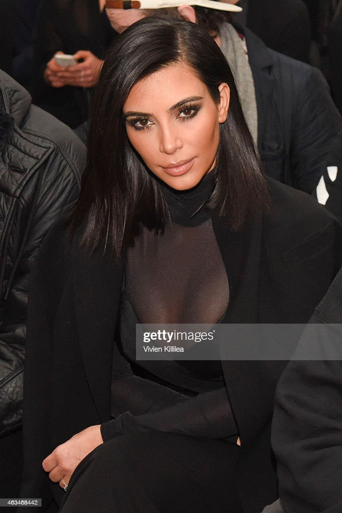 <a gi-track='captionPersonalityLinkClicked' href=/galleries/search?phrase=Kim+Kardashian&family=editorial&specificpeople=753387 ng-click='$event.stopPropagation()'>Kim Kardashian</a> attends the Robert Geller show during Mercedes-Benz Fashion Week Fall 2015 at Pier 59 on February 14, 2015 in New York City.
