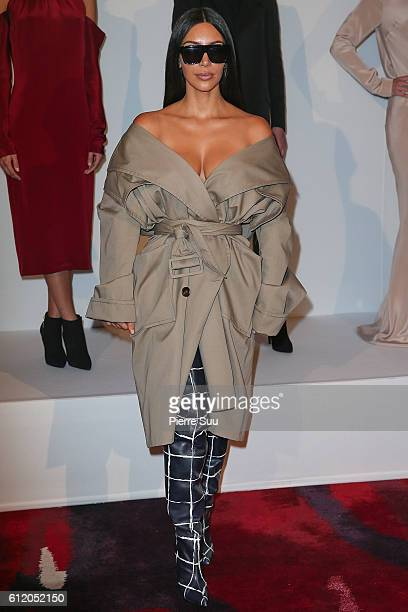 Kim Kardashian attends the Siran Presentation At Hotel Plaza Athenee as part of the Paris Fashion Week Womenswear on October 2 2016 in Paris France