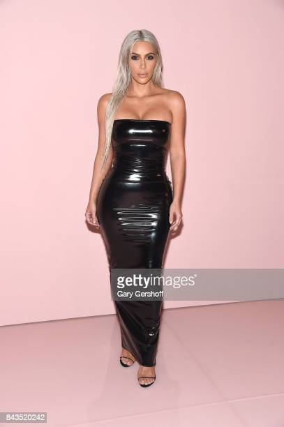 Kim Kardashian attends the Tom Ford fashion show during New York Fashion Week on September 6 2017 in New York City