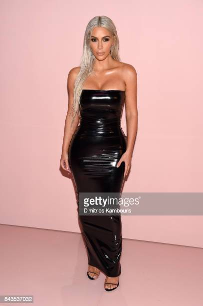 Kim Kardashian attends the Tom Ford Spring/Summer 2018 Runway Show at Park Avenue Armory on September 6 2017 in New York City