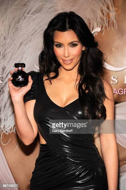 Kim Kardashian celebrates the launch of the new Kim Kardashian fragrance at Sephora on February 15 2010 in New York City