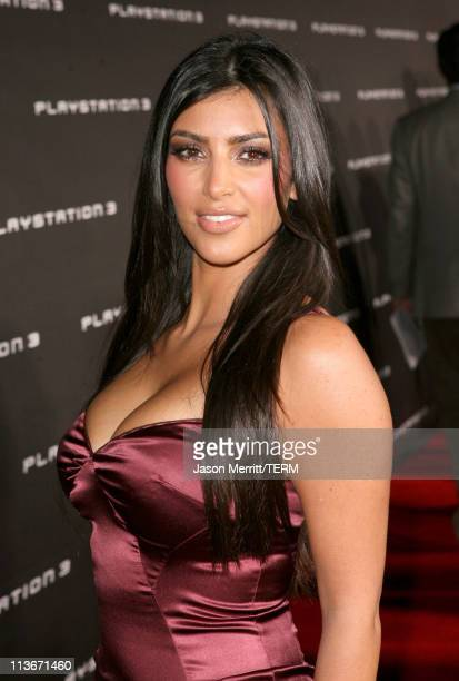Kim Kardashian during PLAYSTATION 3 Launch Red Carpet at 9900 Wilshire Blvd in Los Angeles California United States