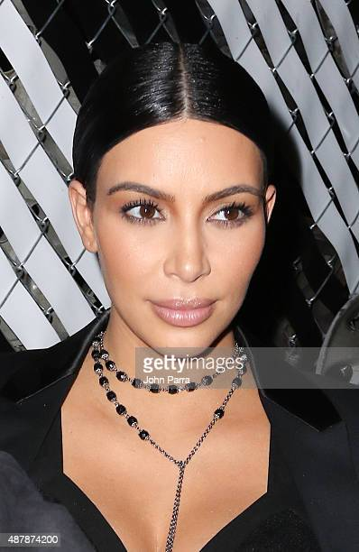 Kim Kardashian is Seen Around Spring 2016 New York Fashion Week shows on September 11 2015 in New York City