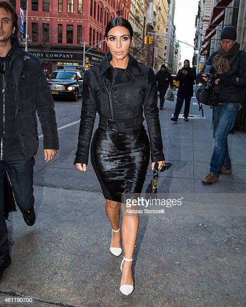 Kim Kardashian is seen arriving at ABC Kitchen for lunch with Jonathan Cheban on January 8 2015 in New York City