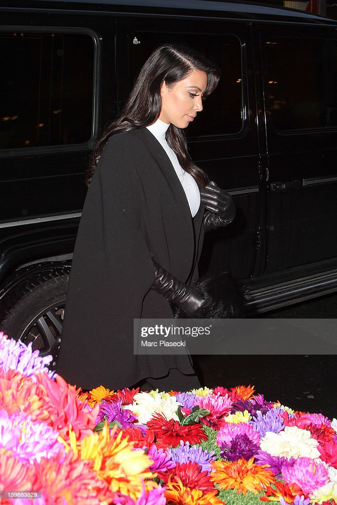 <a gi-track='captionPersonalityLinkClicked' href=/galleries/search?phrase=Kim+Kardashian&family=editorial&specificpeople=753387 ng-click='$event.stopPropagation()'>Kim Kardashian</a> is seen arriving at the 'Colette' store on January 22, 2013 in Paris, France.