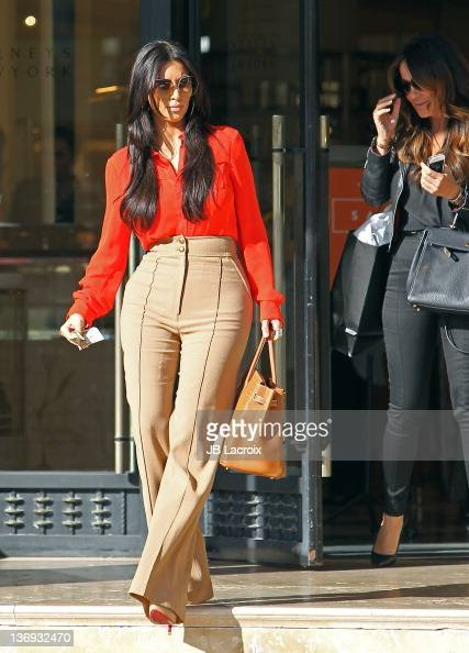 Kim Kardashian is seen in Beverly Hills on January 12 2012 in Los Angeles California