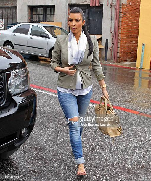 Kim Kardashian is seen in Beverly Hills on March 23 2011 in Los Angeles California