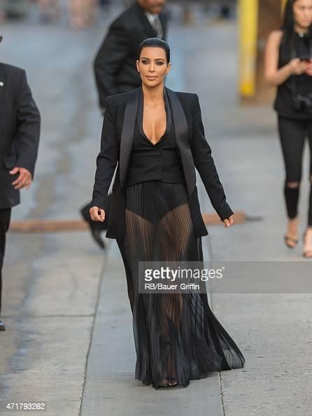 Kim Kardashian is seen in Hollywood on April 30 2015 in Los Angeles California